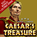 Lucky Club Casino Introduces New Caesars Treasure Slot from Nuworks with Casino Bonus and Free Spins