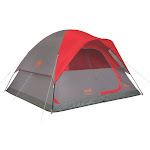 Coleman Flatwoods II Dome Tent - Gray/Red - 6-Person