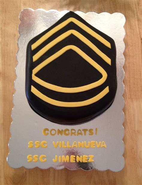 Military Army Rank cake. E7 promotion celebration