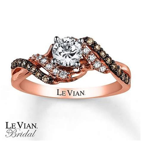Le Vian Engagement Ring 3/4 ct tw Diamonds 14K Strawberry