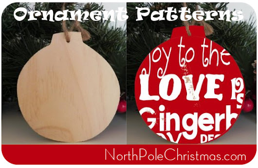 32 Christmas Ornaments to Make at NorthPoleChristmas.com