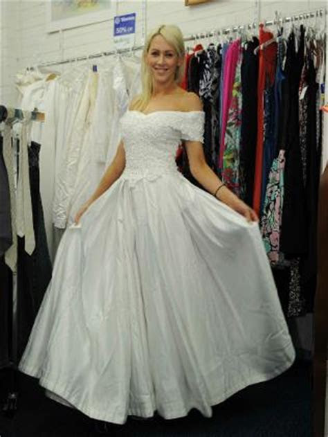 Charity shops benefiting from demand for pre loved wedding