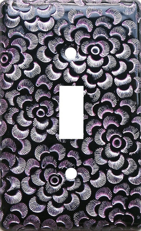 decorative switch plate - Gothic Pink textured switchplate