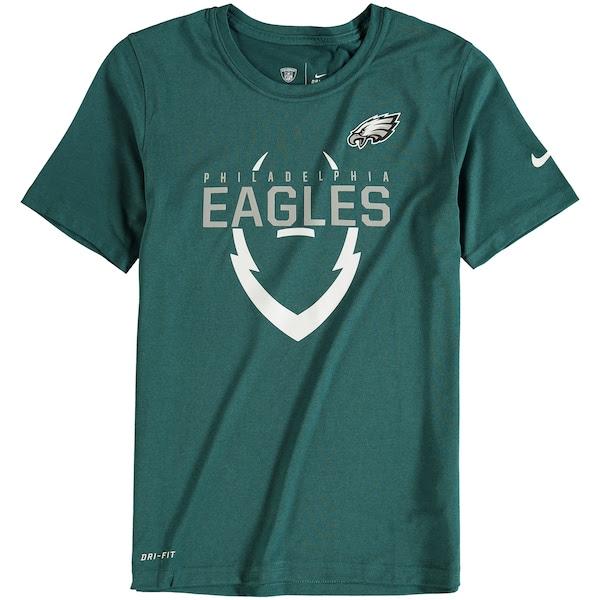 Youth Philadelphia Eagles Nike Green Icon Performance TShirt  NFLShop.com