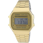 Casio Men's A168WG-9WDF Base Metal Watch, Gold