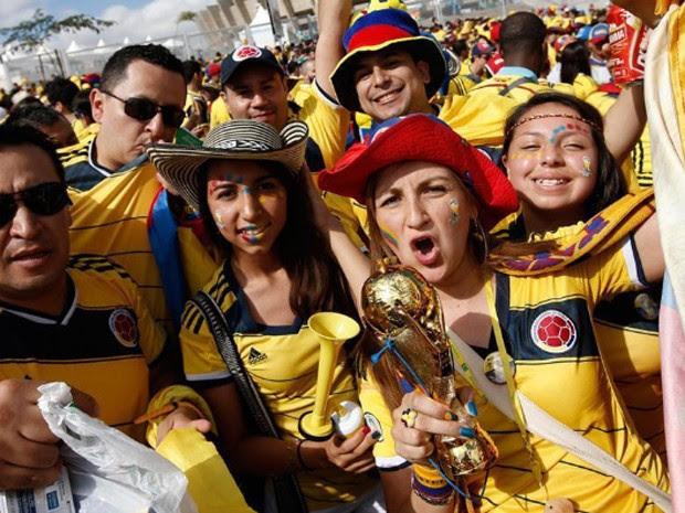 Estreia de Belo Horizonte na Copa tem festa de colombianos. (Foto: AFP)
