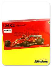 Kit 1/20 Fujimi - Ferrari 126C2 Agip - Nº 27, 28 - Gilles Villeneuve, Didier Pironi - Gran Premio de Belgica 1982 - maqueta de plástico