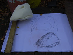 Pantomime goose costume beak