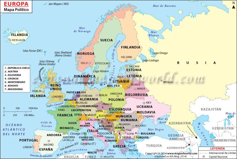 Mapa Politico de Europa