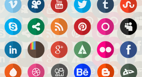 Freebie: Circle Flat Icons Retina-ready