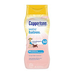 Coppertone WaterBabies Sunscreen Lotion Broad Spectrum SPF 50, 8 Oz