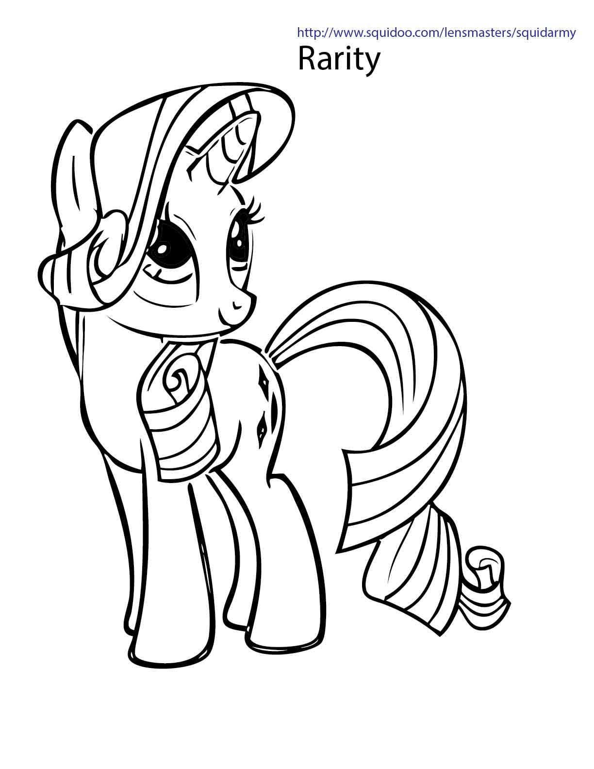 Mewarnai My Little Pony Rarity V Warna