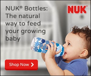 NUK® Bottles, the natural way to feed your growing baby.  Shop now