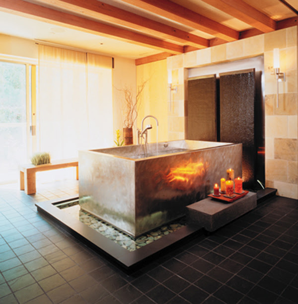 Modern Relaxing Japanese Soaking Bathtubs   homemydesign.