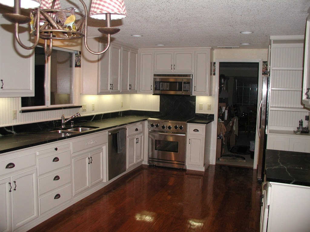 Kitchen white cabinets dark countertops  give your kitchen fresh and elegant look  Interior
