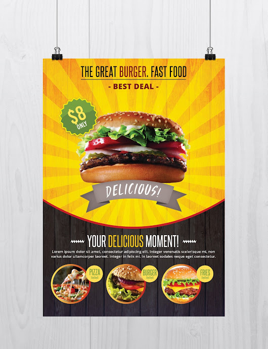 Fast Food - Download Free PSD Flyer Template - Stockpsd.net