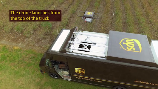UPS Tests Residential Delivery via Drone #tech #technews #dronetech
