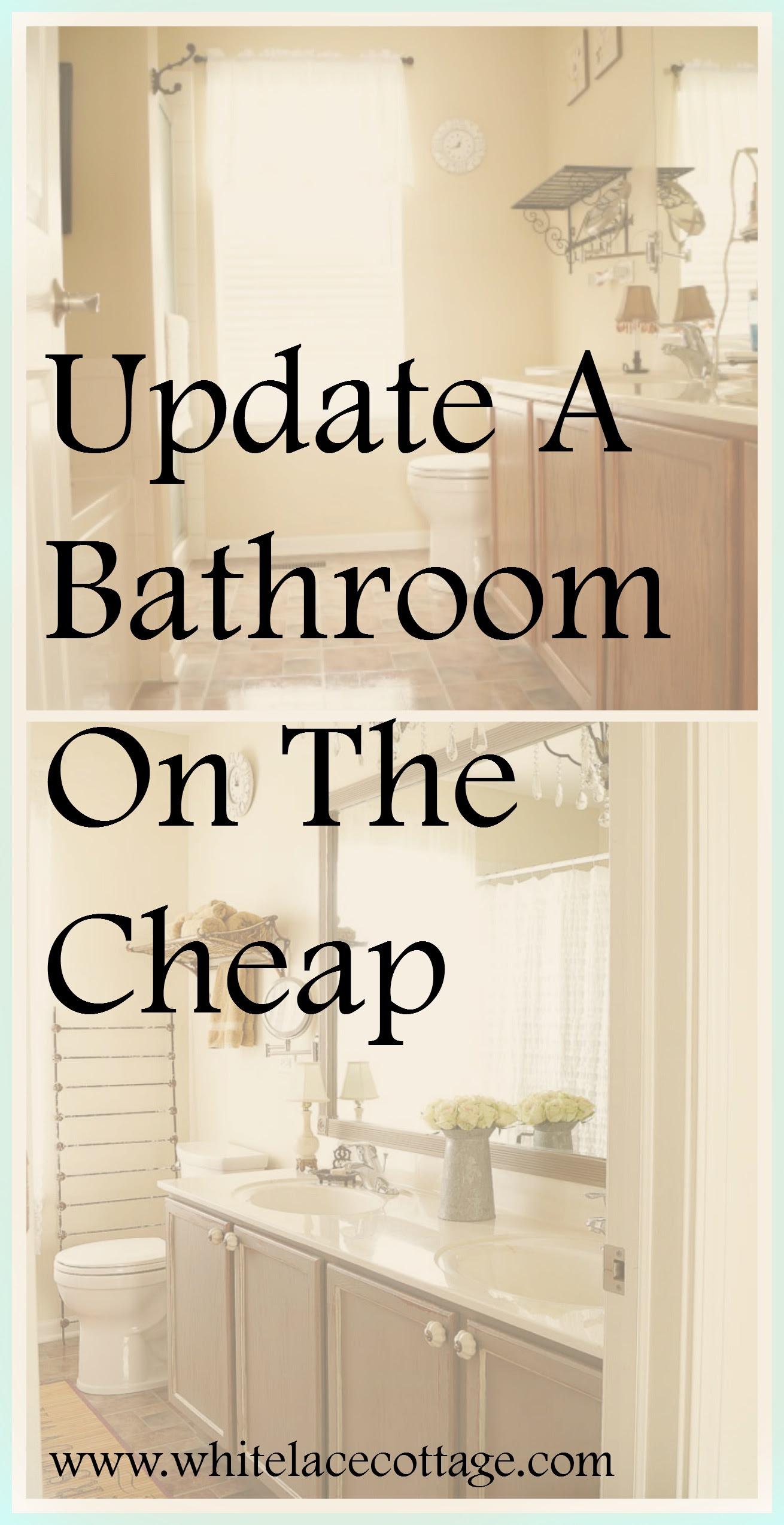 DIY Bathroom Mirror Frame Update - White Lace Cottage