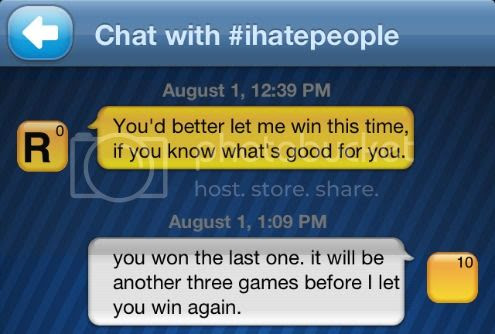 Words With Friends message