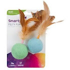 SmartyKat Felty Fun Balls Cat Toys, 2 Count