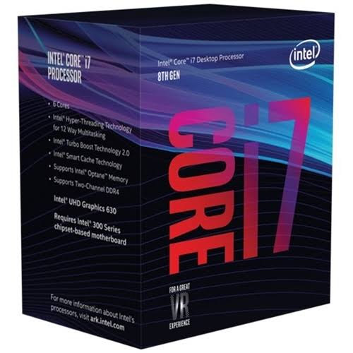 Intel Core i7-8700 3.2 GHz 6-Core Processor - 12 MB - LGA1151 Socket - Retail