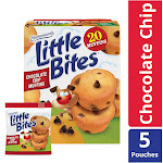 Entenmann's Little Bites Chocolate Chip Muffins, 5 Pouches per Box