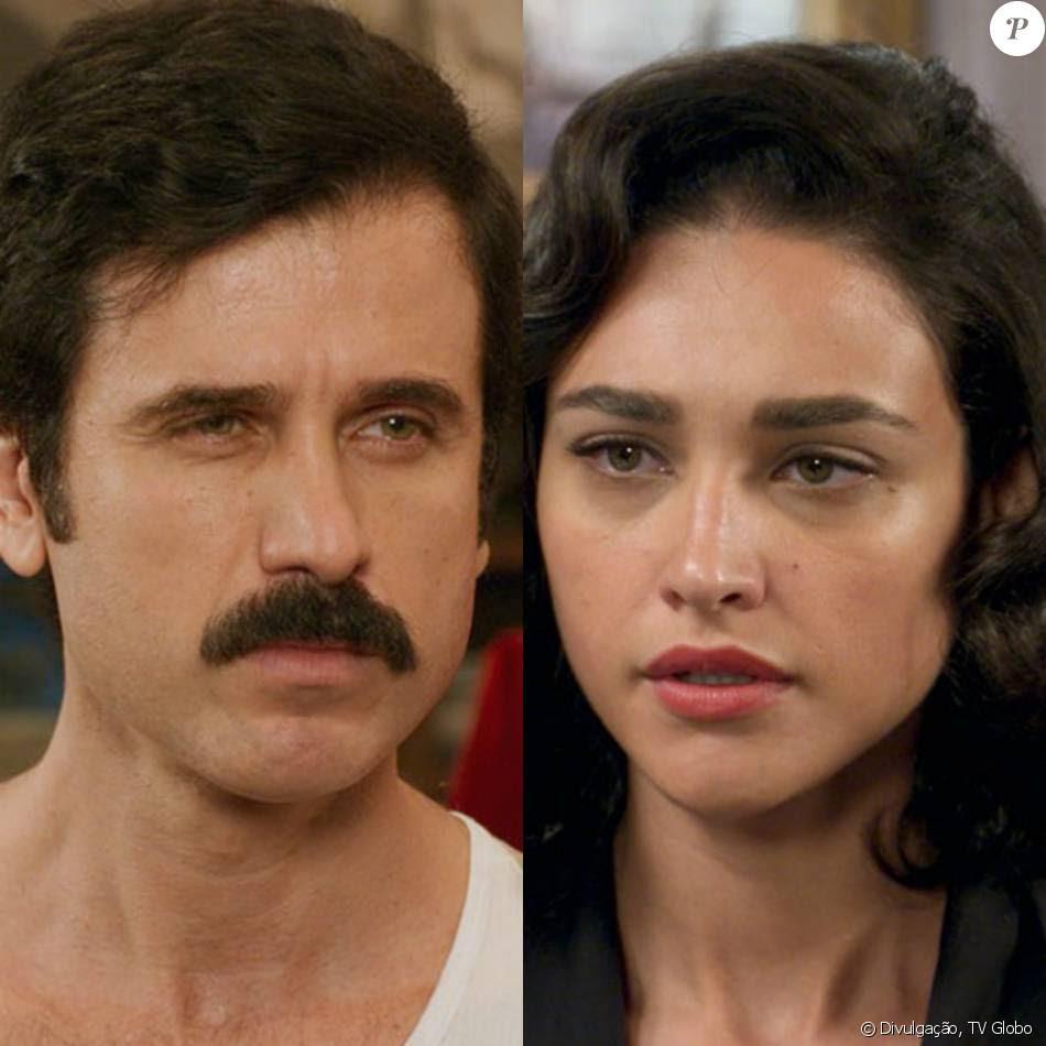 Ernesto (Eriberto Leão) quer vender o filho que Filomena (Débora Nascimento) está esperando, na novela 'Êta Mundo Bom!', em 20 de maio de 2016
