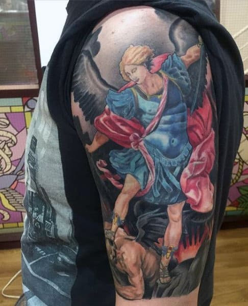 75 St Michael Tattoo Designs For Men Archangel And Prince
