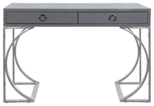 Worlds Away Vanessa Two Drawer Desk - Contemporary - Desks And Hutches - by Matthew Izzo