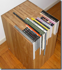 Stacked Book Side Table
