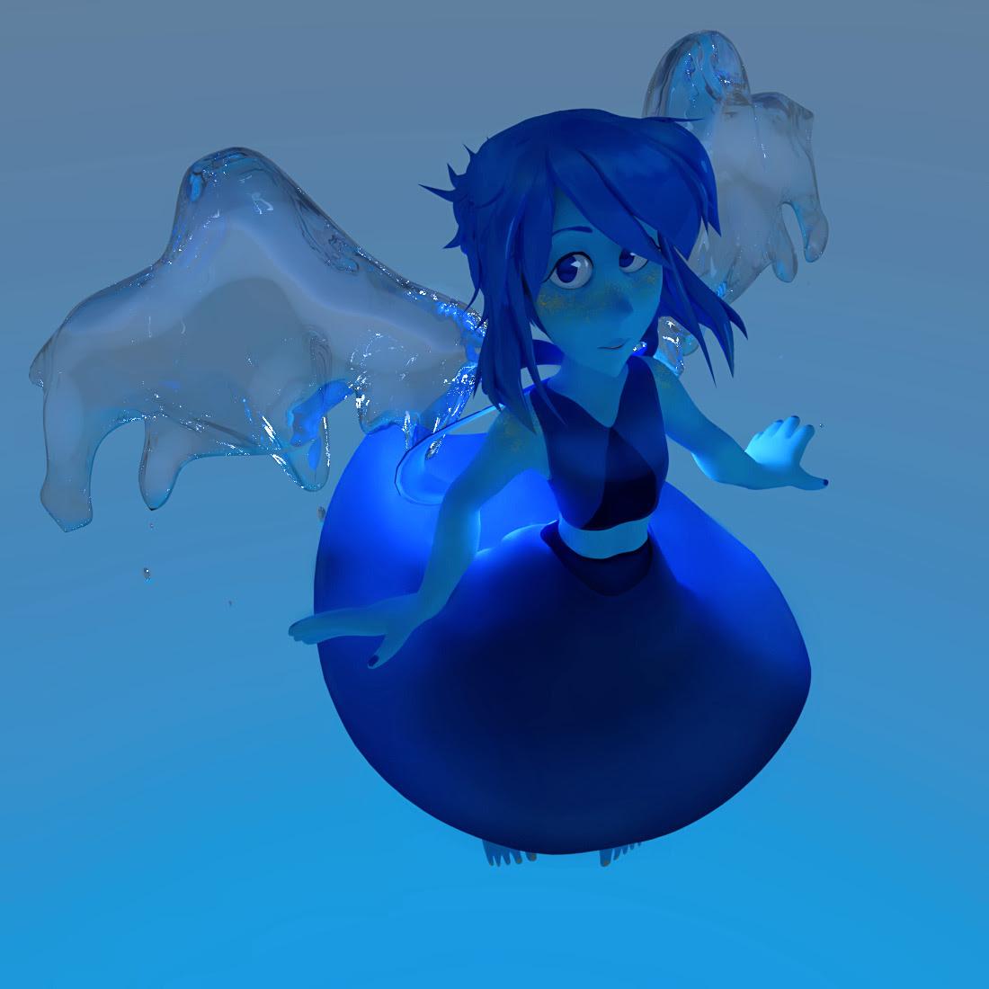 So, here's Lapis. I hope wings look like it's water.