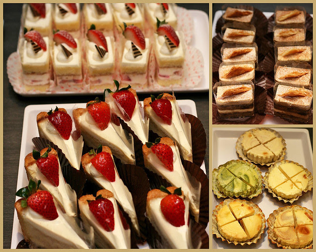 Treats from Pâtisserie Glacé: Strawberry Shortcake, Low-fat Cheese Tart, Earl Grey Tiramisu, Rin Rin Ice Cheese Tarts