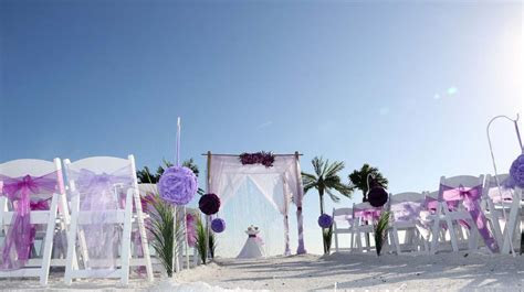 Florida Beach Wedding Themes   Purple and LavenderSuncoast