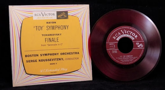 RCA Red Seal 45 Record Toy Symphony Serenade in by ShellyisVintage