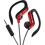 Jvc HAEBR80R Sport-Clip In-Ear Headphones With Microphone and Remote - Red
