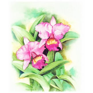 Pink Catleya Orchid Flower Art - Multi shirt