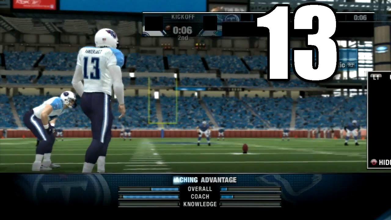 NFL Head Coach 09  Part 13 Detroit Lions vs Tennessee Titans  YouTube