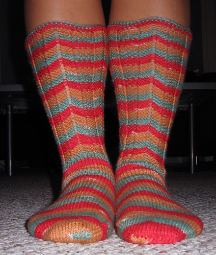 Chevron socks from Sensational Knitted Socks