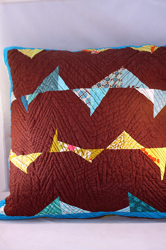 Stitch & Flip Triangle pillow