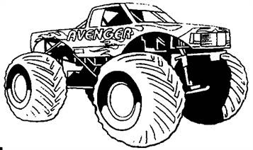 Kids N Fun Com 8 Coloring Pages Of Monster Trucks