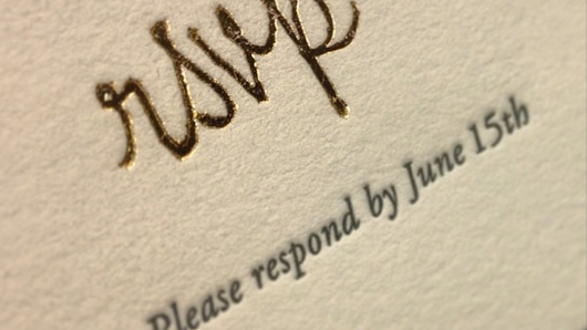 Shed Letterpress says foil stamping is this season's wedding trend - Triangle Business Journal