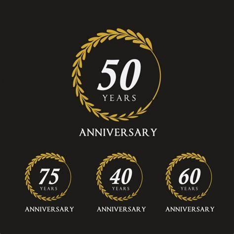 Emblemas de aniversario dorados   Descargar Vectores gratis