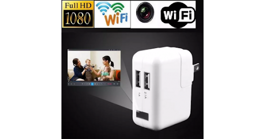 USB Charger WiFi Hidden HD 1080P Pinhole Spy Camera