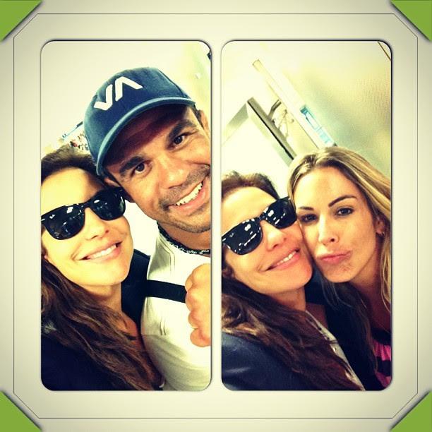 Ivete Sangalo, Vitor Belfort e Joana Prado (Foto: Instagram/Reprodução)