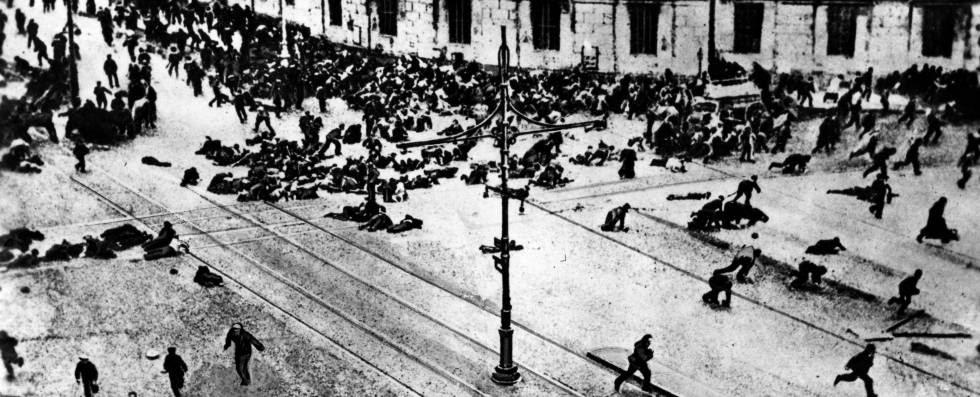 Enfrentamiento entre bolcheviques y el ejército ruso en Petrogrado