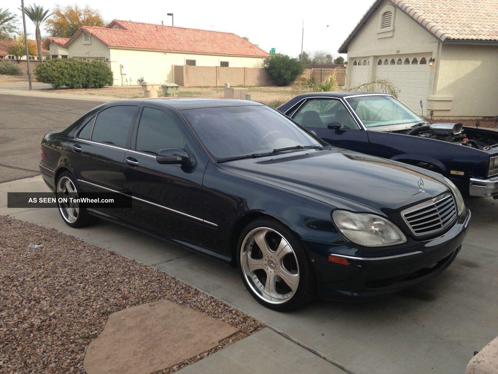 2001 Mercedes - Benz S500, Cobalt Blue, 2 Piece Custom Wheels