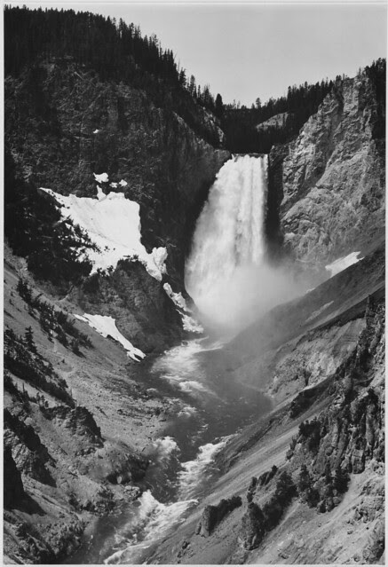 """Yellowstone Falls,"" Yellowstone National Park, Wyoming. (vertical orientation)"