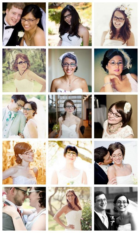 Brides with Glasses :  wedding bride glasses Brides In Glasses 2