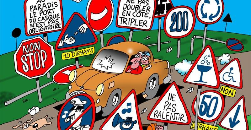 Znaki drogowe - nagłówek - Francuski przy kawie
