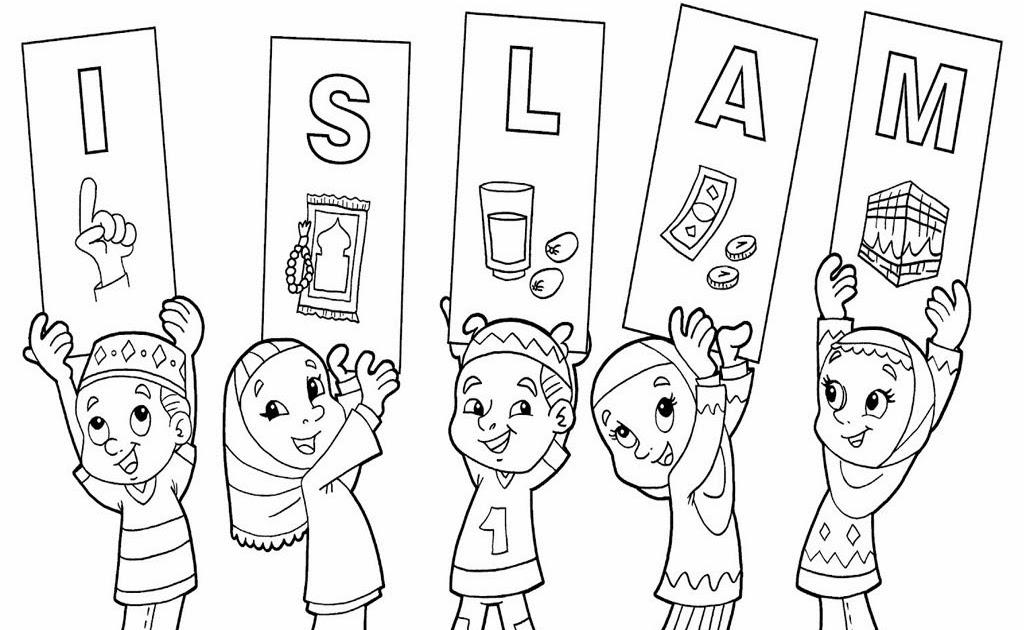gambar mewarnai anak tk islami